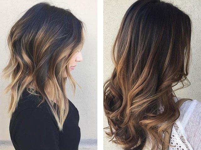 Средние стрижки на темные волосы