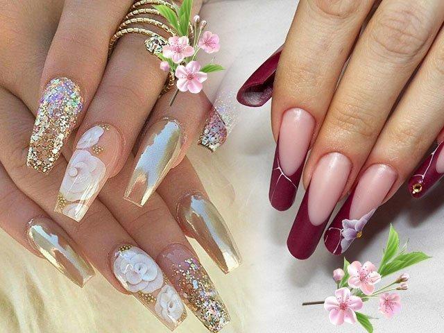 Дизайны нарощенных ногтей фото