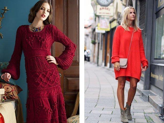 Вязание спицами платья для женщин модные
