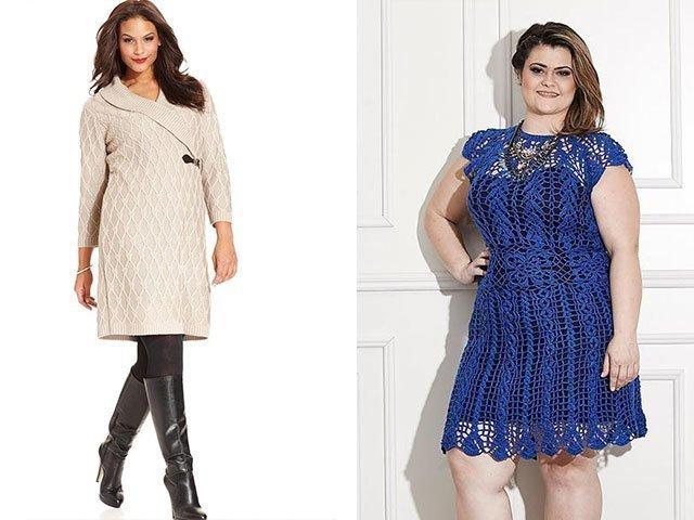 Вязание платья на полных женщин 39