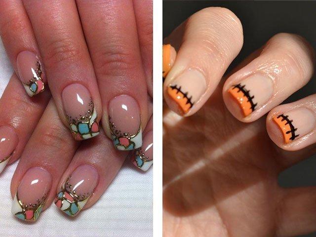 Дизайн ногтей френч осень