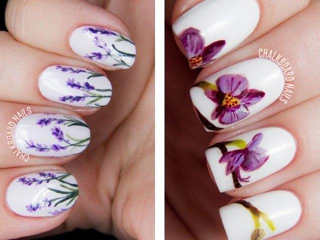 Красивые рисунки нарощенных ногтях