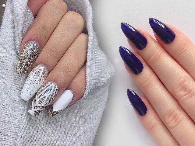 Дизайн ногтей острая форма 2017