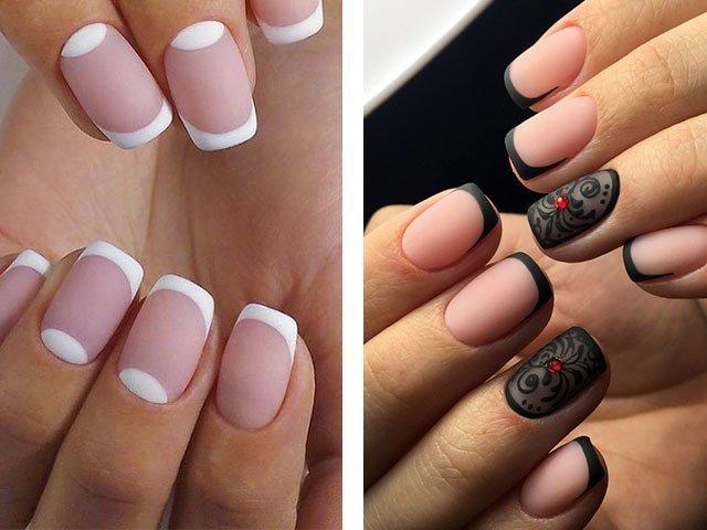 Шеллак на короткие ногти матовый