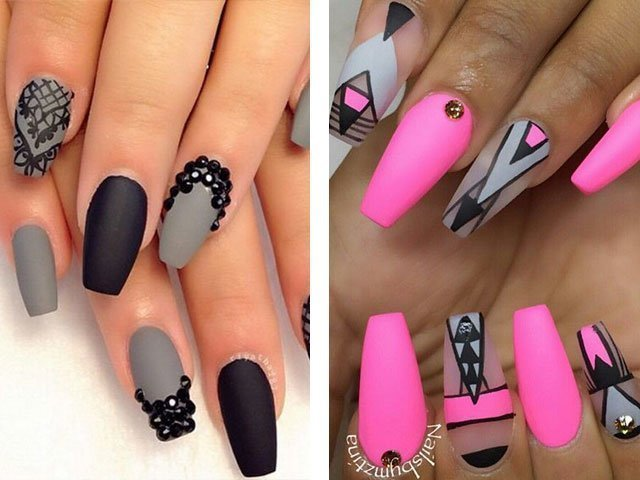 Матовые ногти дизайн 2017 новинки