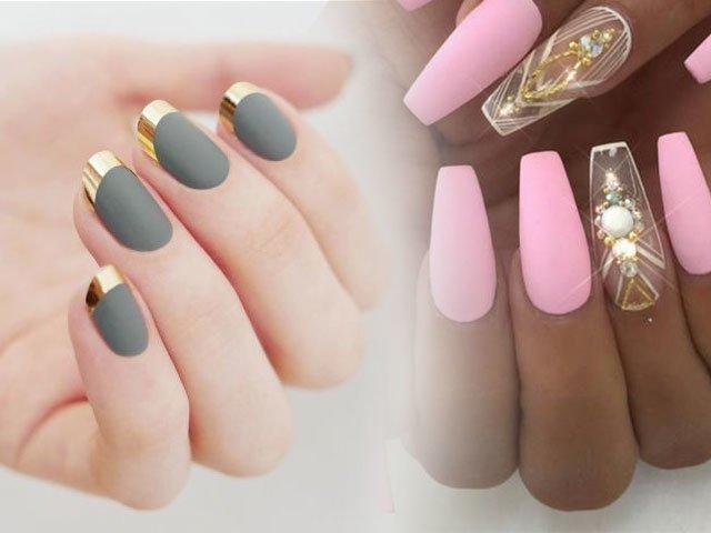 Дизайн ногтей матовые фото