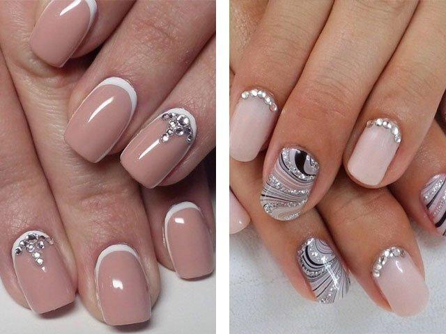 Дизайн ногтей не яркий