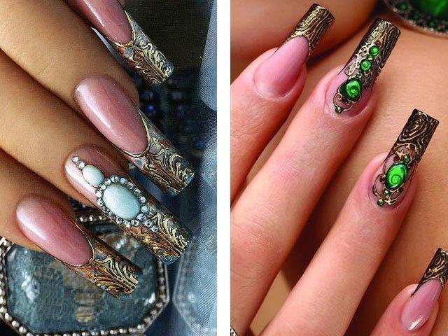 Дизайн ногтей с камнями 2017 фото новинки