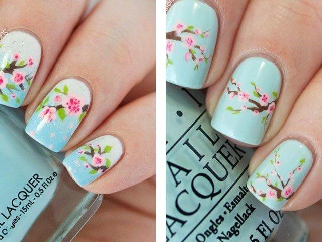Гель-лак дизайн фото весна 2017 на короткие ногти