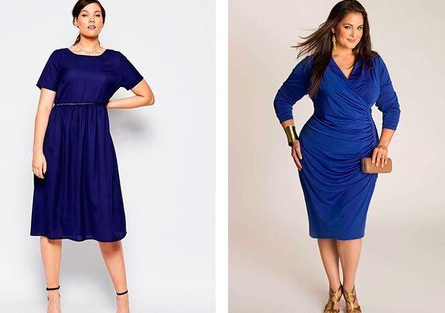 Платье василькового цвета с чем носить
