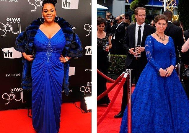 Платье синего цвета - с чем носить синее платье