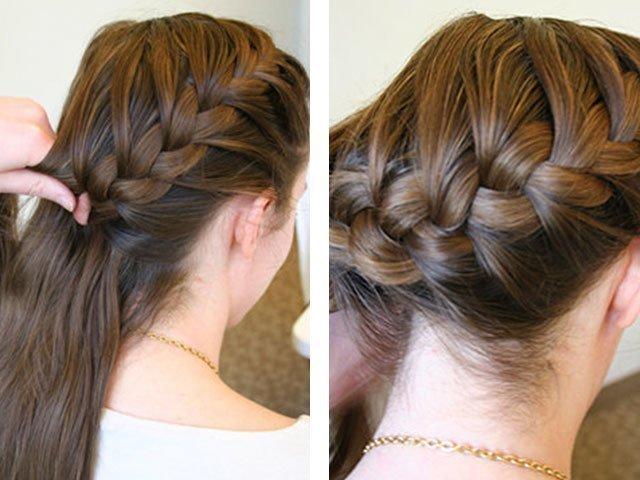 Косички на средние волосы для девушек фото