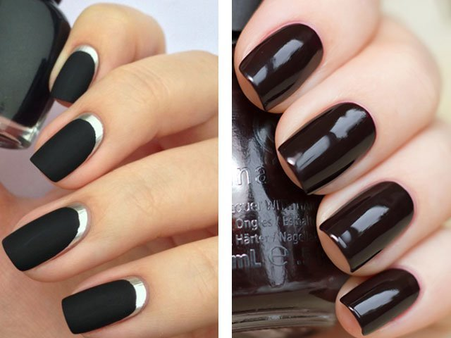 Дизайн ногтей 2017 темные цвета