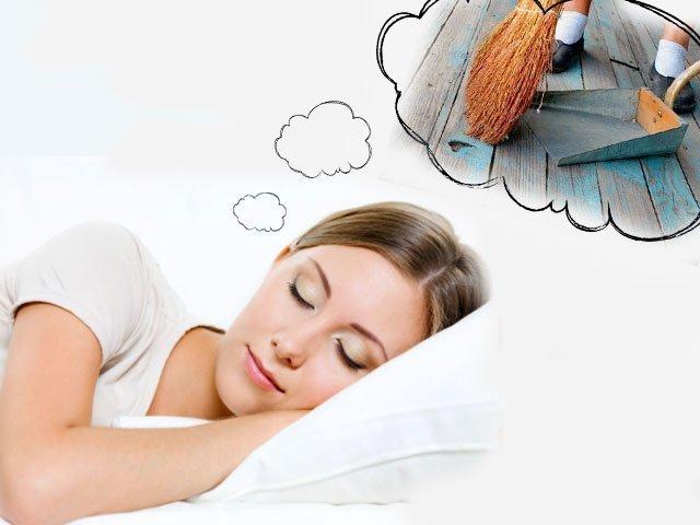 Подметать сне