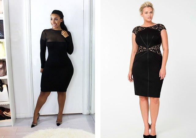 Платье футляр фото модного образа на полных женщин