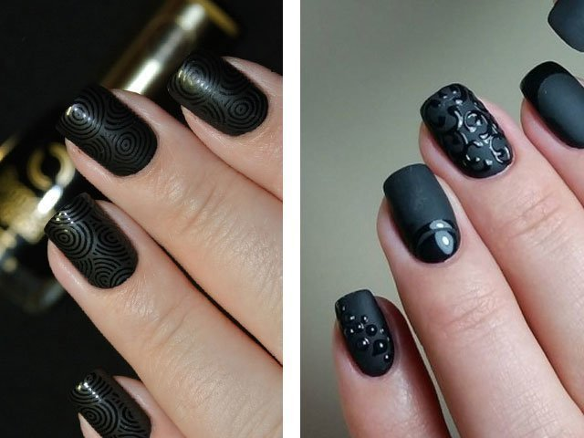 Дизайн ногтей матовый с глянцем фото