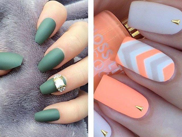 Ногти матовый дизайн фото