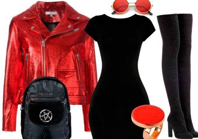 Черное платье футляр фото модного образа