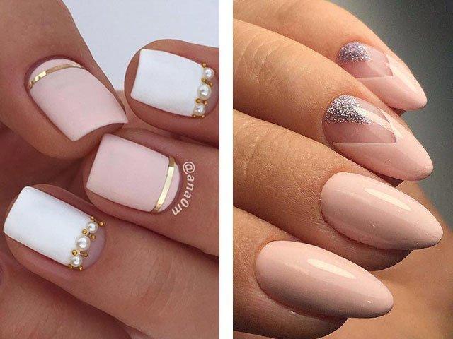 Ногти маникюр на маленькие ногти дизайн 2017-2018