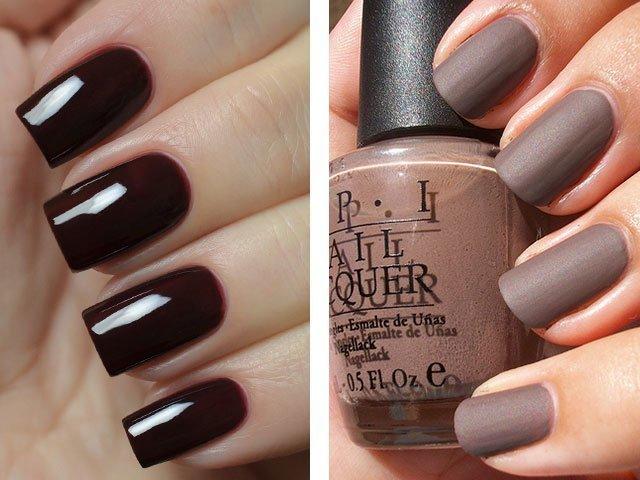 Лак для ногтей модные цвета