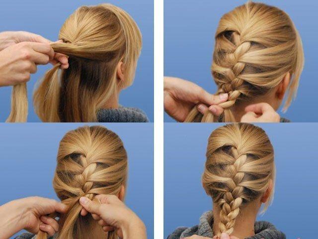 Как заплести девочку с длинными волосами