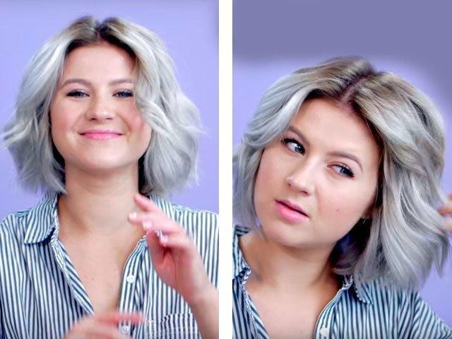 Прически на средние волосы своими руками