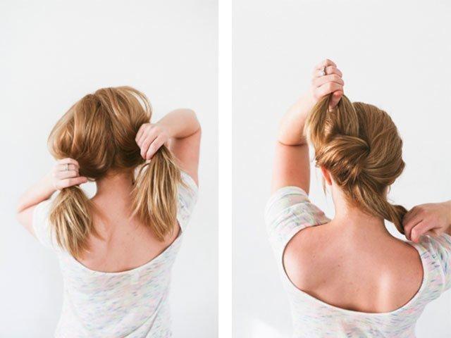 Красивая прическа на волосы до плеч своими руками 47