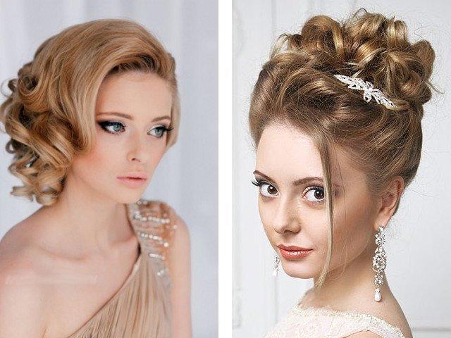 Свадебные прически на средние волосы без челки фото
