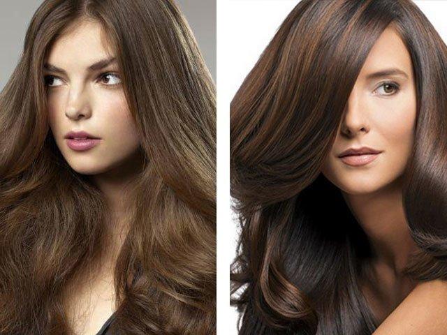 Красивый цвет волос каштановый