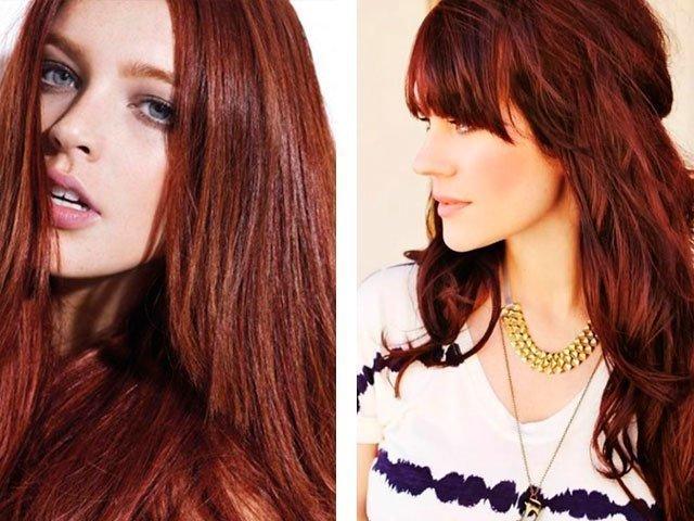 Красный каштан цвет волос