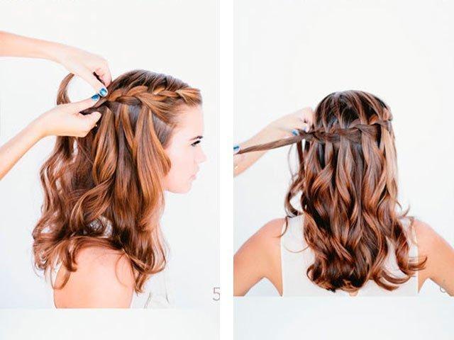 Прически с распущенными волосами простые