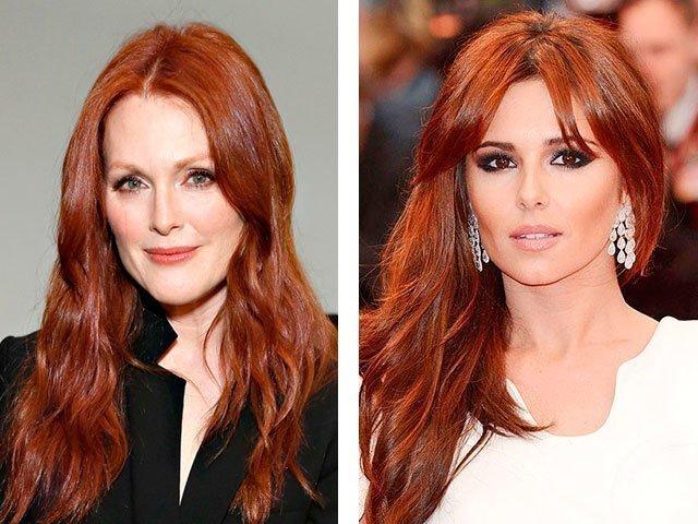Фото цвет волос темный рыжий