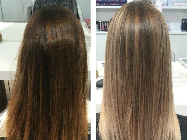 Мелирование волос на русые