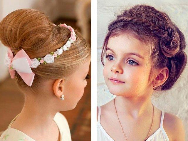 Детские прически длинных волос
