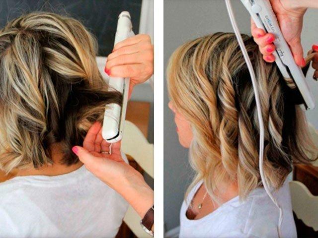 Как сделать легкие кудри на средние волосы