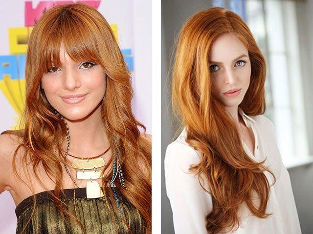 Светло-русый золотисто медный цвет волос фото