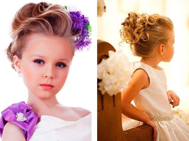 Прически для длинных волос для девочек на выпускной в детском саду фото