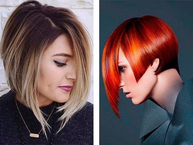 Стрижки каре на средние волосы с удлинением