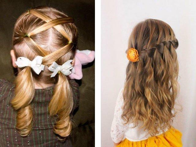 Причёска для девочки на выпускной в детском саду своими руками