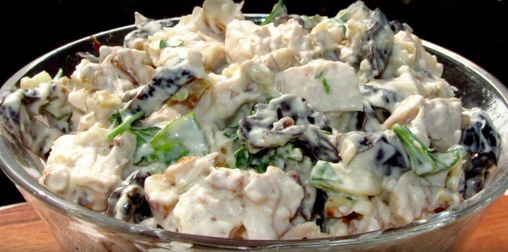 Салат с курицей черносливом грибами с фото