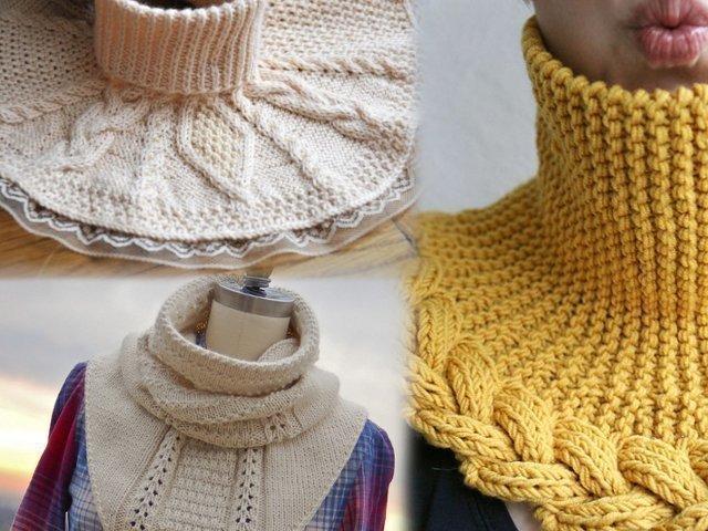 Вязание манишек спицами регланом